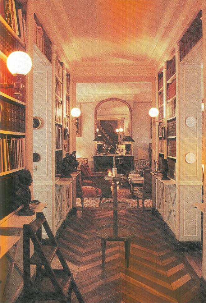 Traditional Parisian Interior- with classic chevron pattern.