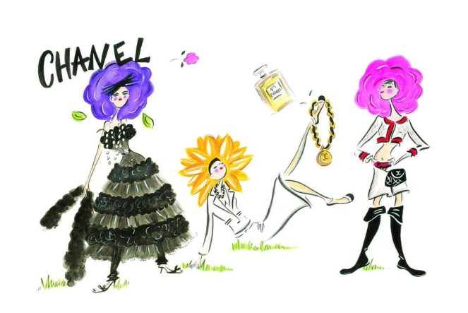 Chanel illustration by Chesley Mclaren