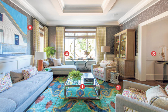 Thom Filicia's room, as shown in the WSJ article.
